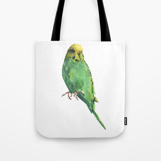 Budgie, parakeet, budgerigar,bird art, budgie painting Tote Bag