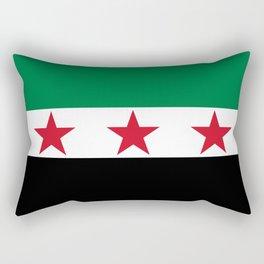 Independence flag of Syria Rectangular Pillow