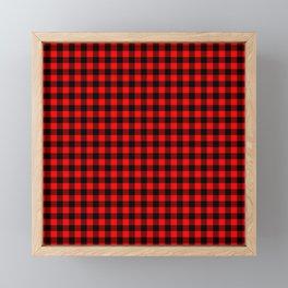 Australian Flag Red and Black Outback Check Buffalo Plaid Framed Mini Art Print