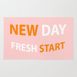 new day fresh start Rug