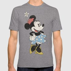 Minnie Mouse Tri-Grey Mens Fitted Tee 2X-LARGE