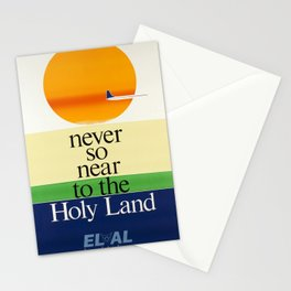 classic poster el al israel airlines never so near Stationery Cards