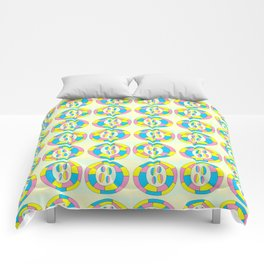 Circle and abstraction-abstraction,abstract,geometric,geometrical,pattern,circle,sphere Comforters