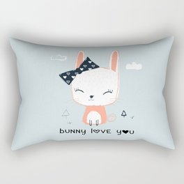 RABBIT BUNNY CARTOON Rectangular Pillow
