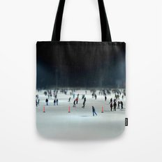 Budapest Ice Rink Tote Bag