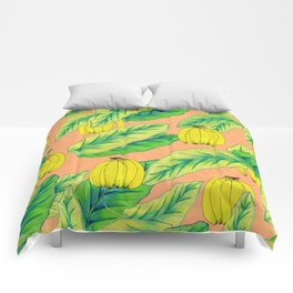 Banana Jungle - Peach Comforters