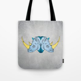 Double Trouble - Rhino Tote Bag
