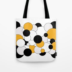 Bubbles - orange, black, gray and white Tote Bag