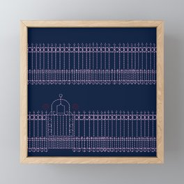 stitched gate Framed Mini Art Print
