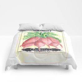 Radish Seed Packet Comforters