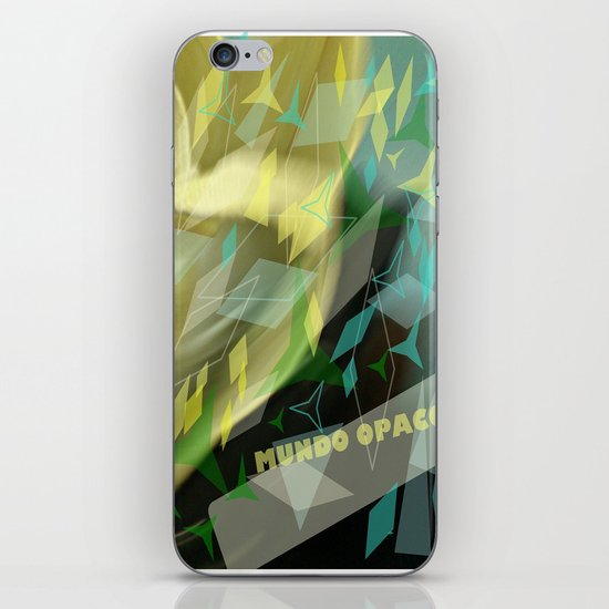 Opaque world: garment in the air. iPhone & iPod Skin