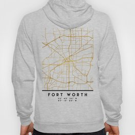 FORT WORTH CITY STREET MAP ART Hoody