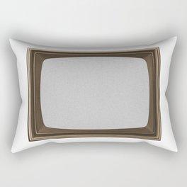 TV White Noise Frame Rectangular Pillow
