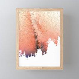White pine trees Framed Mini Art Print