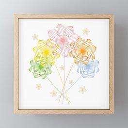 Blooming Flowers Framed Mini Art Print