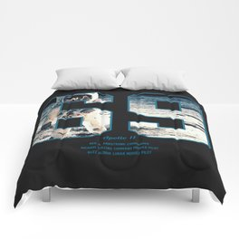 Apollo Mission 1969 First MAn on the Moon Art print Comforters