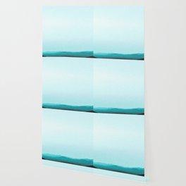 Dreamy Mountain Range | Serene Calm Turquoise Blue Aqua Ombre Daydream Sunset California Hills Wallpaper