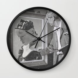 Vintage Painter and His Robot Wall Clock