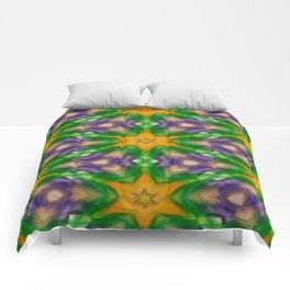 Mardi Gras stars #4509 Comforters