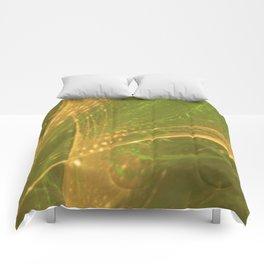 Green Yellow Asymmetric Fractal Comforters