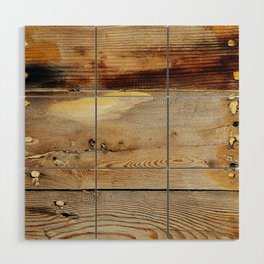Wooden shipboard with nails and screws Wood Wall Art