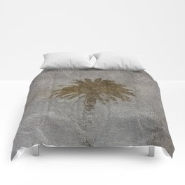 Rainy Day Palm Tree Comforters