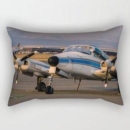 Sunset Plane Rectangular Pillow