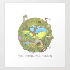 The Elephant's Garden - Version 1 Art Print