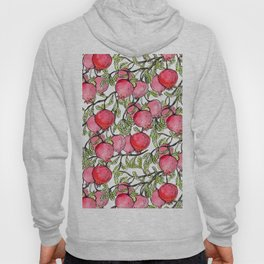 Pomegranate branches watercolor Hoody