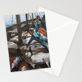 Fishing 3 Stationery Cards