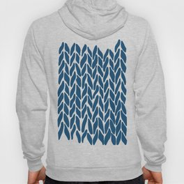Hand Knitted Navy Hoody