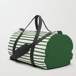 Holiday x Green Stripes Duffle Bag