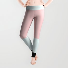 Blush Pink Geometric Leggings