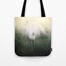 White Peacock Tote Bag