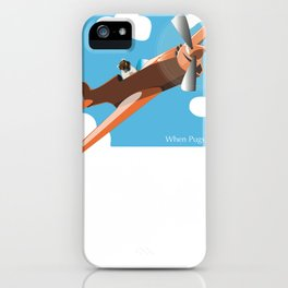 When Pugs Fly iPhone Case