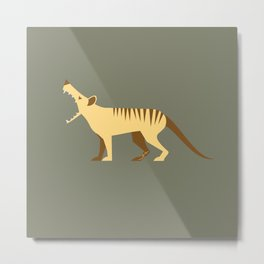 EXTINCT: Thylacine (Tasmanian Tiger) Metal Print