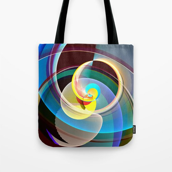Modern colourful abstract with circles in motion Tote Bag