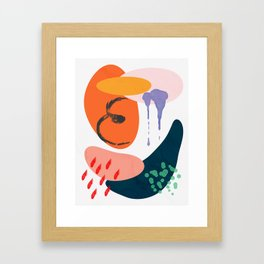 abstract dripping Framed Art Print