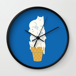 Cats Ice Cream Wall Clock