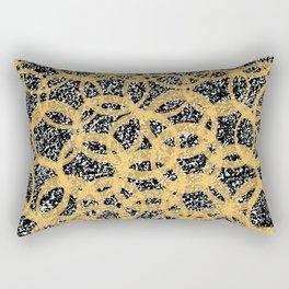 Abstract Beehive Yellow & Black Pattern Rectangular Pillow