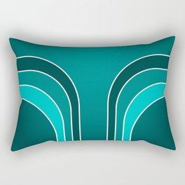 Green Bars Rectangular Pillow