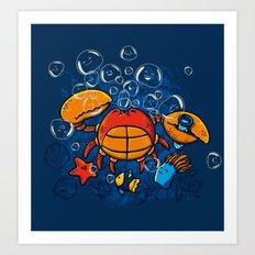 Jellyfishes Birth Art Print
