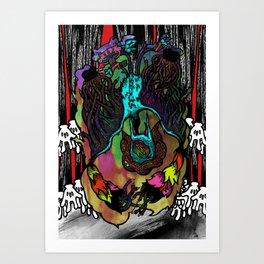 The Bat-Thing from Looneyland Art Print