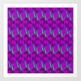 Shears Pattern Art Print