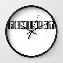 Feminist Barcode Wall Clock