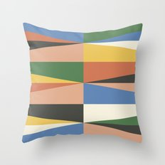 Triangle Waves Throw Pillow