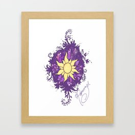Tangled: Rapunzel's Kingdom Dance Chalk Drawing Framed Art Print
