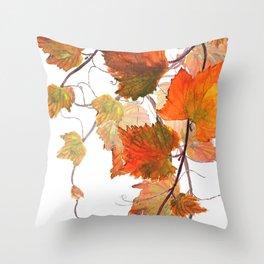 orange grapevine 2 Throw Pillow