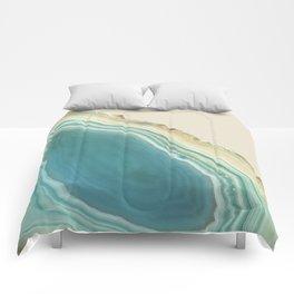 Geode Turquoise + Cream Comforters