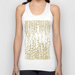 golden string of pearls watercolor Unisex Tank Top